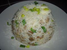 Houbové rizoto s pórkem (po česku) recept - TopRecepty. Grains, Food, Essen, Meals, Seeds, Yemek, Eten, Korn