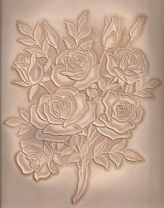 가죽공예;장미카빙(Leather craft Rose Carving) by madisa1, via Flickr