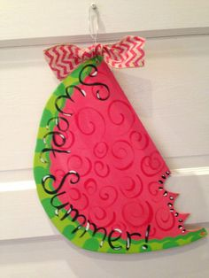 Watermelon Door Hanger by WhimsyLucy on Etsy, $20.00