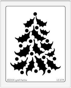 Pine tree pattern. Use the printable outline for crafts