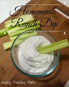 Homemade Ranch Dip Recipe - Simply Healthy Home