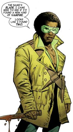 Blade Comic Book Characters, Comic Book Heroes, Comic Books, Hq Marvel, Marvel Comics, Eric Brooks, Blade Marvel, Black Comics, Fiction Movies