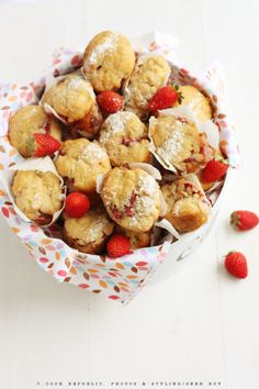 Ricotta Muffins With Strawberries. Blank canvas muffins to experiment with.