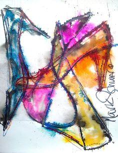 #shoes #art #high heels #www.highheeledart.com #Mark Schwartz