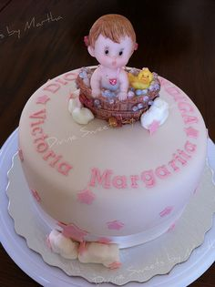 Bautizo Bebita - Baby Girl Baptism Cake by Divine Sweets by Martha, via Flickr