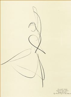 "Ballet dancer ""Allegro Brillante"" Elisabeth Platel, 1996 Paris Opera Ballet by Stanley Roseman (Tango Desenho) Gesture Drawing, Line Drawing, Painting & Drawing, Movement Drawing, Drawing Hair, Drawing Faces, Abstract Drawings, Art Drawings, Contour Drawings"