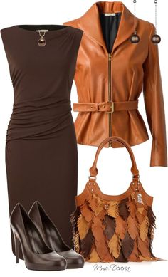 "outfit for work.. fall colors  ""Carlos Santana handbag"" by madamedeveria ❤ liked on Polyvore"