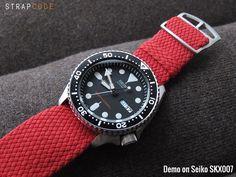 Seiko Diver SKX007 | Never go wrong with Perlon straps | strapcode