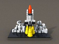 space shuttle at launch by wagner of the brick, via Flickr