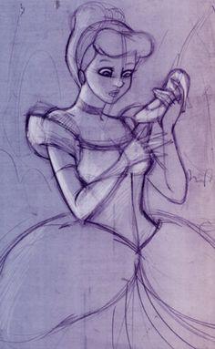 Cinderella - Disney pre-production sketch