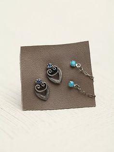 Chain Hoop Novelty Earrings