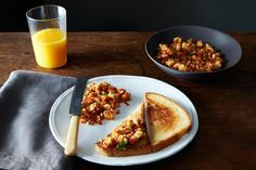 Paneer Bhurji with Tawa Toast (Scrambled Paneer with Buttered Toast), a recipe on Food52