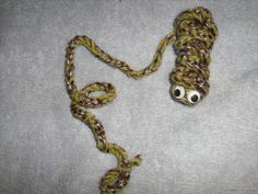 Bookmark Crochet Bookworm in Olive and Brown by craftheart on Etsy, $3.25