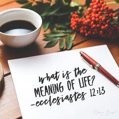 Ecclesiastes 12:13. www.rebeccabrand.org