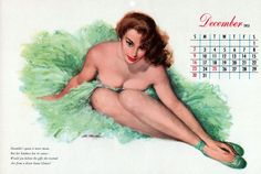 Ghosts Of The Great Highway: Classic Collections. Vintage 1951 Esquire Pin Up Girly Calendar.