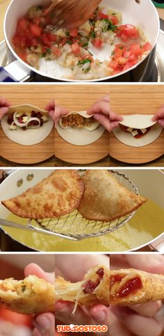 3 receitas completas de recheios para pastel!