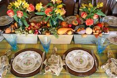 Thanksgiving Table-Bargain Decorating w Laurie