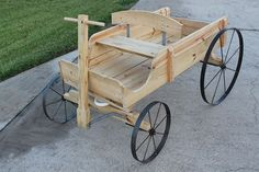 Use these plans and wheels to build an ornamental buckboard