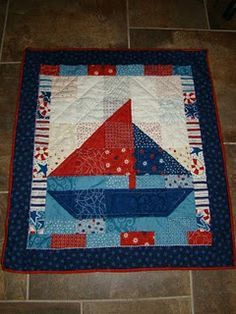 cute sailboat baby quilt