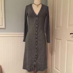 Vintage Betsey Johnson Silver And Black Coat/Dress