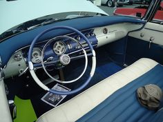 1955 Chrysler New Yorker Deluxe Convertible by Custom_Cab, via Flickr vintage classic car auto interior upholstery