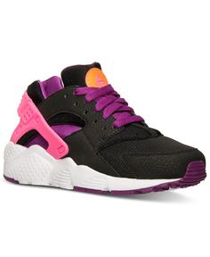 check out bb434 8a772 Nike Girls  Huarache Run Running Sneakers from Finish Line   Reviews -  Finish Line Athletic Shoes - Kids - Macy s