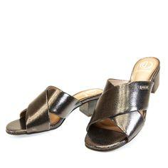 Sandália mule Prata Latão 3010 Dumond by Moselle | Moselle sapatos finos femininos! Moselle sua boutique online.