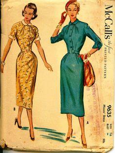 1950 vestido Vintage patrón  de McCall por shellmakeyouflip en Etsy