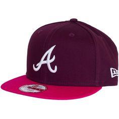 New Era Cotton Block Cap Atlanta Braves maroon/rose ★★★★★
