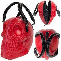 The skull collection skull purse bag by kreepsville | Kreepsville 666