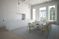 Interior refurbishment of a private residence in Antwerp Belgium by Rolies + Dubois architecten