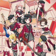 Crunchyroll - Web CM Reveals Collaboration Visuals between BanG Dream! and Vocaloid Characters Lolis Anime, Kawaii Anime Girl, Anime Chibi, Anime Art Girl, Friend Anime, Anime Best Friends, Lost Ones Weeping, Sakura Card Captor, Vocaloid Characters