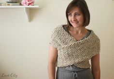 Wrap It Up Crochet Sweater | This gorgeous sweater can also be worn as a hood or cowl! Love how versatile it is!