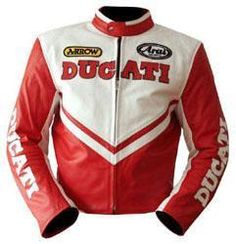 Ducati Motorcycle Racing Leather Jacket Available in all Size Cool Jackets For Men, Fall Jackets, Men's Jackets, Revival Clothing, Cool Bike Accessories, Motorcycle Accessories, Men Closet, Trousers
