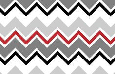 Zigzag Red Black Art Pattern