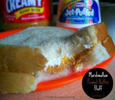 Marshmallow Peanut Butter Fluff Sandwich  http://www.stockpilingmoms.com/2013/01/marshmallow-peanut-butter-fluff-sandwich/