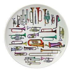 A Vintage Piero Fornasetti Strumenti Musicali Large Plate. Italy, circa 1960. http://1stdibs.com/furniture_item_detail.php?id=625305