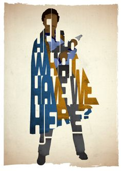 """""""Hello, What Have We Here"""" - Lando Calrissian """"The Empire Strikes Back"""" poster (Standard Size) by 17th and Oak on The Bazaar."""