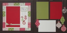 Designed by Susan Adams and Janet Baker Stampin' Up! Products used: Stamps: Ornament Keepsake Bundle-Wood Clear . All Things Christmas, Winter Christmas, Christmas Holidays, Christmas Cards, Christmas Ornaments, Xmas, Scrapbook Sketches, Scrapbook Page Layouts, Scrapbook Cards