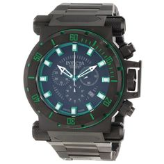 Invicta 10036 Men's Coalition Forces Green Accents Black Dial Interchangeable Strap Chronograph Watch