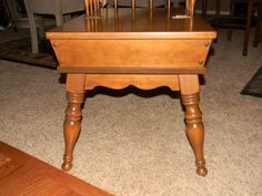 Great Ethan Allen Colonial Furniture By Baumritter, Solid Maple Step End ..