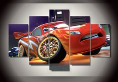 Framed-Printed-Cartoon-Lightning-McQueen-in-Cars-Painting-children-s-room-decor-print-poster-picture-canvas.jpg (880×617)