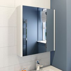Icona Classic White Mirrored Bathroom Cabinet - 600mm £79.98