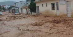 Jacobina - Fortes chuvas alagam ruas em vários bairros da cidade; veja imagens