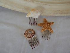 Starfish Seashell Wedding Hair Accessories -Set of Sea Shell Starfish Bridal Hair Accessories- Ready To Ship Mermaid Jewelry, Seashell Jewelry, Sea Crafts, Seashell Crafts, Shells And Sand, Sea Shells, Seashell Wedding, Chopstick Hair, Ocean Quotes