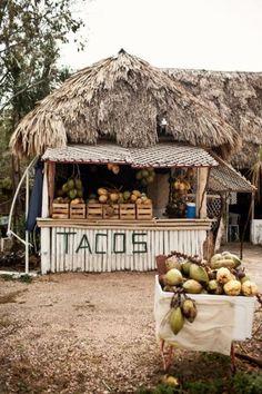 Marchand de tacos - Tulum, Mexique