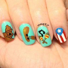 Puerto Rico octavitas nail art design