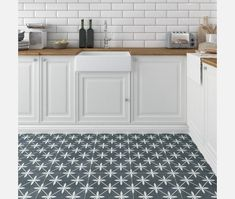 Wicker Grey Pattern Wall and Floor Tile Breathe some life into your interiors with Wicker; an eye-catching wall and floor tile inspired by the hydraulic-style encaustic tiles made famous during the Art Deco era. Types Of Floor Tiles, Grey Floor Tiles, Types Of Flooring, Wall And Floor Tiles, Bathroom Floor Tiles, Grey Flooring, Kitchen Flooring, Floor Patterns, Wall Patterns