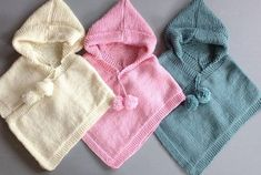 Tina's Handicraft : 65 Different Ideas For Children's Poncho - Diy Crafts - DIY & Crafts Toddler Poncho, Girls Poncho, Baby Poncho, Poncho Knitting Patterns, Baby Hats Knitting, Knitted Poncho, Children's Poncho, Crochet Baby Jacket, Baby Girl Crochet