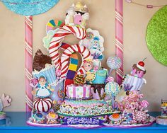 """A little """"Candy Land"""" cake."""
